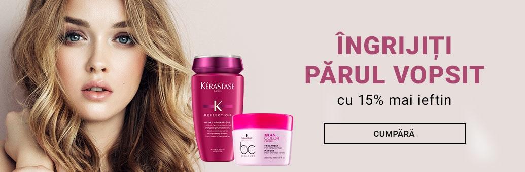 Îngrijiți părul vopsit cu o reducere de 15%