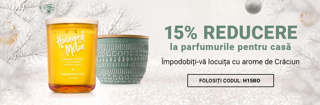 15% reducere la toate parfumurile pentru casă!