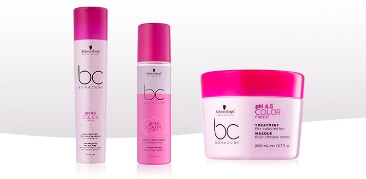 BC Bonacure color freeze, cheveux colorés shampoing
