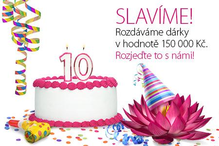 Máme 10 let! Oslavte to s námi – přijďte si pro dárek nebo vyhrajte třeba víkend v Paříži!