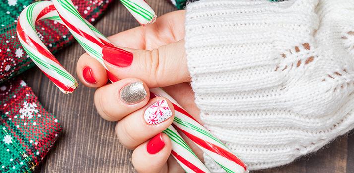 idee unghie natalizie