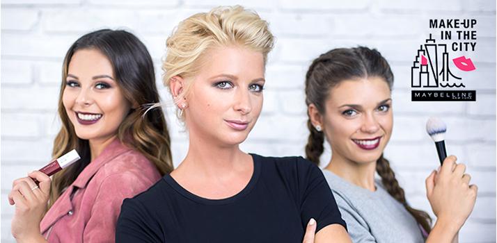 Monika Bagárová a Denisa Pfauserová a ich líčenie od make-up artistky Maybelline Margity Skřenkovej