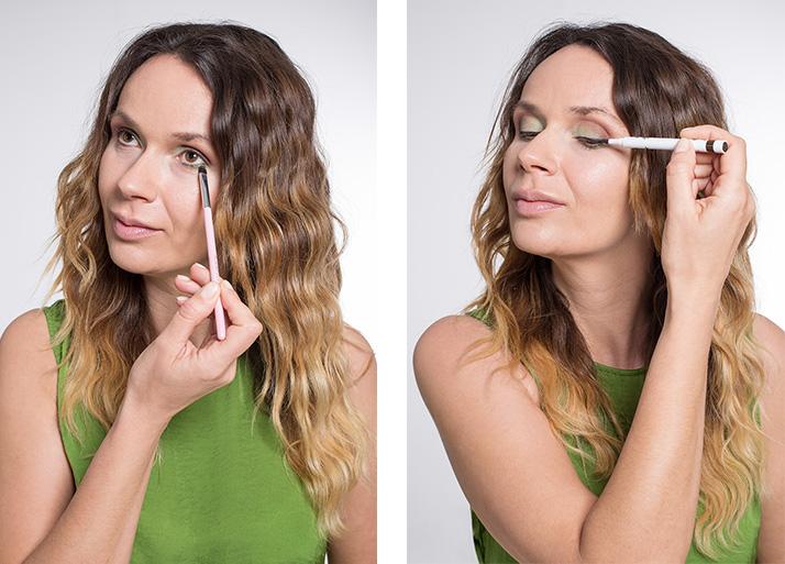 Maquillage vert eye-liner