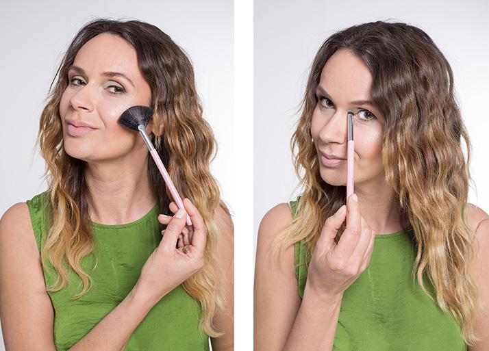 Maquillage vert illuminer
