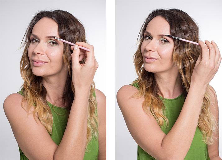 Maquillage vert sourcils