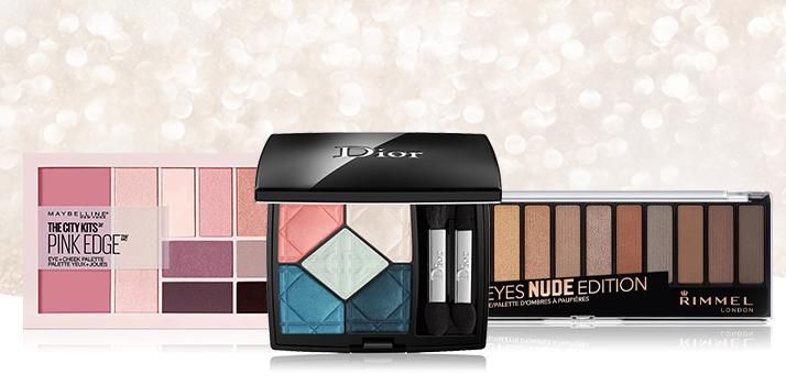 paletky očných tieňov ako vianočný darček pre ženu