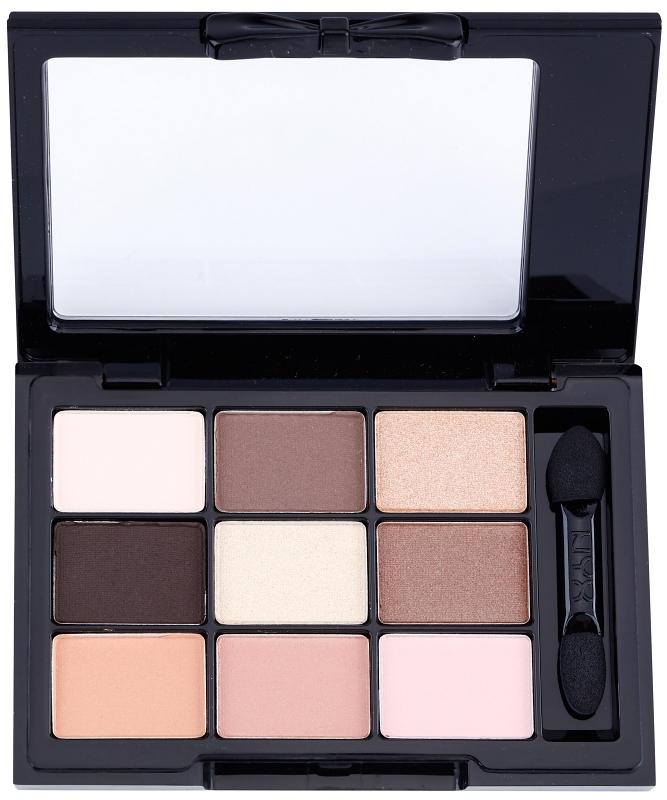 paleta senčil za oči s aplikatorjem NYX Cosmetics Love in Paris