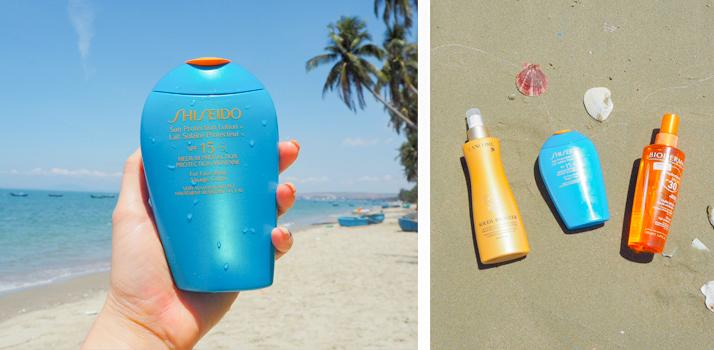 opaľovacie prípravky Shiseido, Lancome a Bioderma