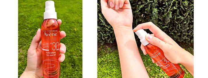 Test huile solaire hypoallergène Avène