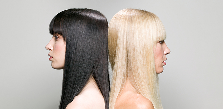 festett haj ápolása