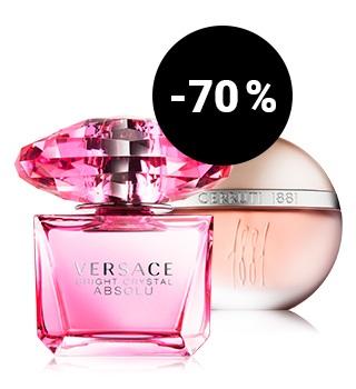 até -70 % em perfumes