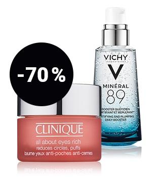 tot 70% korting op huidverzorgingsproducten