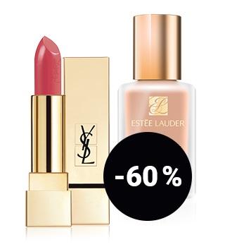 aż -35% zniżki na produkty do pielęgnacji włosów až -60 % zniżki na produkty do make upu