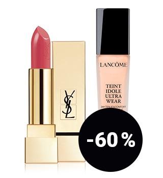 jusqu'à -60 % sur les produits de maquillage