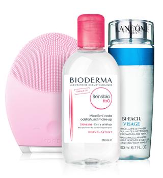 Засоби для очищення шкіри та знаття макіяжу