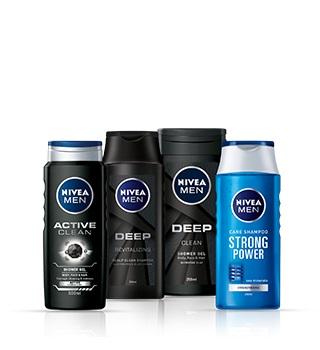 Kosmetyki pod prysznic i szampony Nivea Men