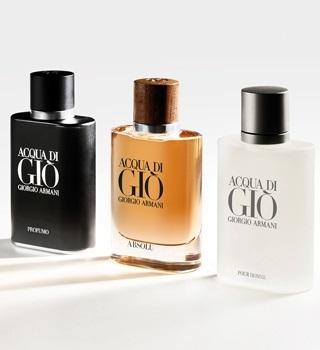 Armani pánske parfémy