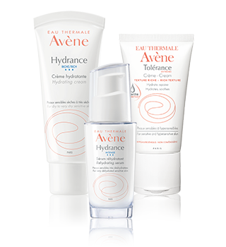 Hydration of sensitive and hypersensitive skin Avène