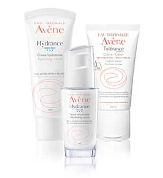 Hydratatie van de gevoelige en overgevoelige huid Avène
