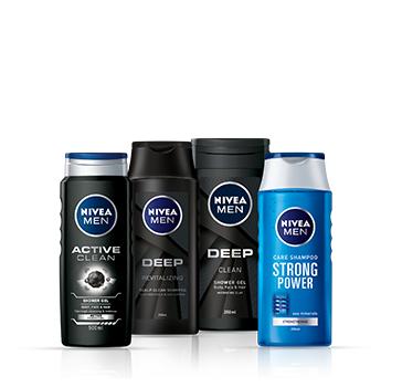 Přípravky na sprchování a šampony