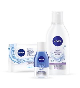 Démaquillage et nettoyage de la peau Nivea
