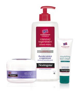 Neutrogena produkty na suchá místa a citlivou pokožku