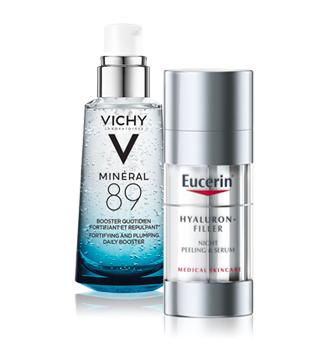 Mascarillas y sérums dermatológicos para la piel del rostro