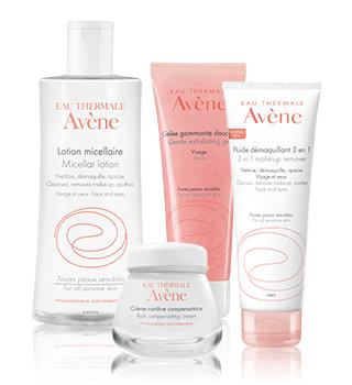 Soins de base et démaquillants pour peaux sensibles Avène