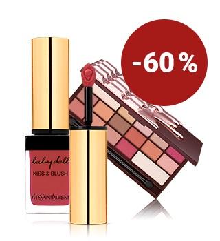Jusqu'à -60 % sur les produits maquillage