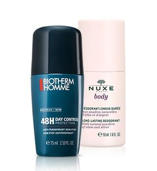 Deodoranty a antiperspiranty