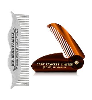 Bartkamm und Bartbürste