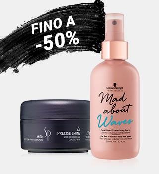 fino a -50% sui trattamenti per capelli