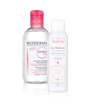 Dermocosméticos de remoçao de maquilhagem e limpeza