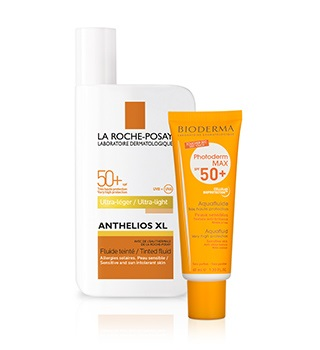 Dermo sunscreens and sun lotions