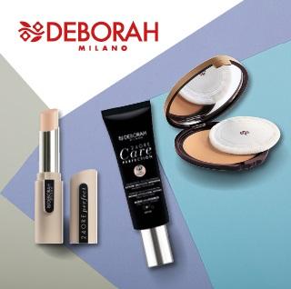 Fond de teint et poudre, maquillage Deborah Milano