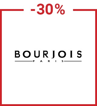 30% discount Bourjois with a promo code spring30gb with purchase over £10