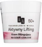 AA Cosmetics Age Technology Active Lifting изглаждащ крем за укрепване контурите на лицето 50+