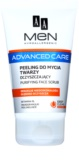 AA Cosmetics Men Advanced Care gel esfoliante de limpeza para rosto