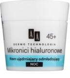 AA Cosmetics Dermo Technology Hyaluronic Microthreads fiatalító és simító éjszakai krém 45+
