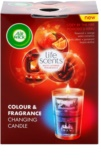 Air Wick Life Scents Color & Fragrance Changing vonná sviečka 140 g  (Cozy by the Fire)