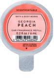 Bath & Body Works Georgia Peach ambientador auto 6 ml recarga de substituição