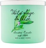 Bath & Body Works Wild Sage & Aloe Duftkerze  411 g