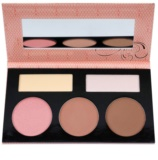 BHcosmetics Forever Nude Sculpt & Glow Palette To Facial Contours With Mirror
