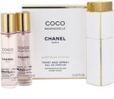Chanel Coco Mademoiselle woda perfumowana dla kobiet 3x20 ml (1x napełnialny + 2x napełnienie)