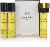 Chanel No.5 toaletna voda za ženske 3 x 20 ml potovalno pakiranje