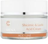 Clarena Acid Line Shicimic & Lactic Acid noční protivráskový krém pro užití během a po sérii exfoliačních ošetření