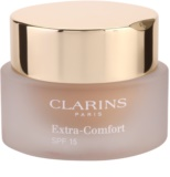 Clarins Face Make-Up Extra-Comfort base rejuvenescedora com brilho para um look natural SPF 15