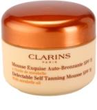 Clarins Sun Self-Tanners espuma bronzeadora para rosto e corpo SPF 15