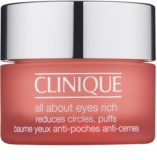 Clinique All About Eyes™ Rich hidratáló szemkörnyékápoló krém a duzzanatokra és a sötét karikákra