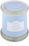 Country Candle Fresh Linen dišeča sveča    v steklu s pokrovčkom